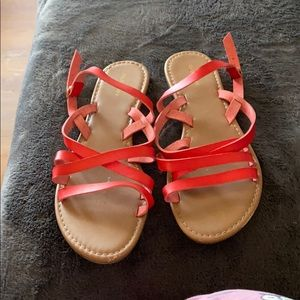 Old Navy Coral Strappy Sandals